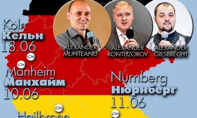 служения в разных городах Германии! Тур с служителями из России!